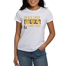 Peace, Love and Sandy Feet Tee