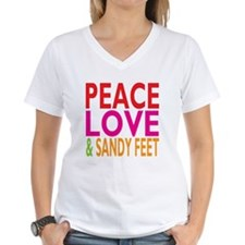 Peace, Love Sandy Feet Shirt