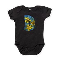D is for daffodil Baby Bodysuit