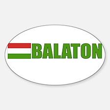 Balaton, Hungary Flag Oval Decal