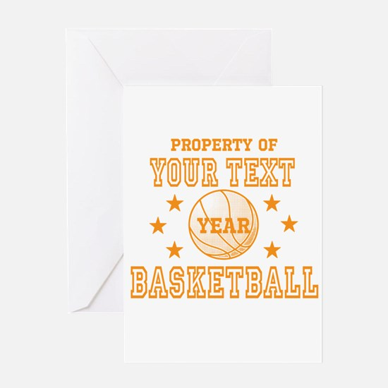 Personalized Property of Basketball Greeting Cards