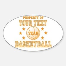 Personalized Property of Basketball Decal