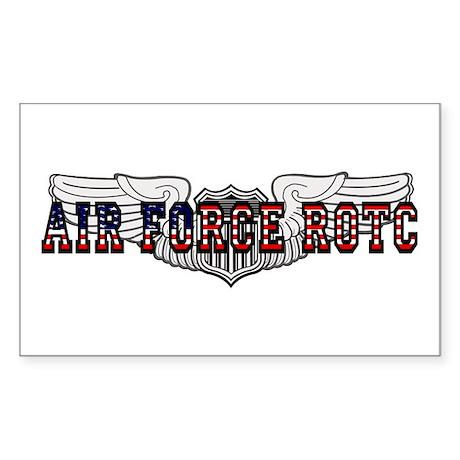ROTC Pilot Wings Rectangle Sticker