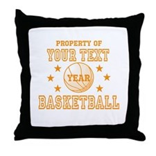 Personalized Property of Basketball Throw Pillow