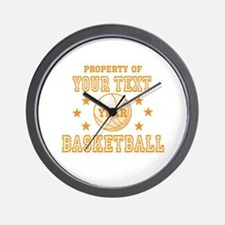 Personalized Property of Basketball Wall Clock