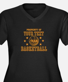 Personalized Property of Basketball Plus Size T-Sh