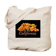 California Poppies with Text California Tote Bag