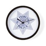 San Francisco Police Wall Clock
