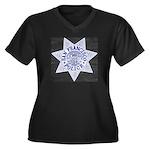 San Francisco Police Women's Plus Size V-Neck Dark