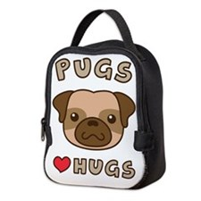 Cute Pugs Love Hugs, For dog lovers Neoprene Lunch