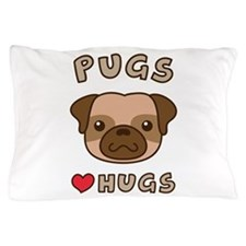 Cute Pugs Love Hugs, For dog lovers Pillow Case