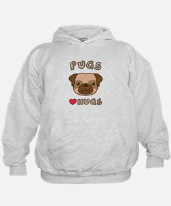 Cute Pugs Love Hugs, For dog lovers Hoody