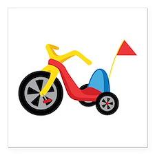 "Big Wheel Square Car Magnet 3"" x 3"""