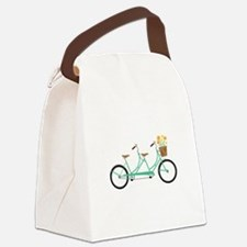 Tandem Bike Canvas Lunch Bag