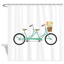 Tandem Bike Shower Curtain