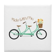 Ride With Me Tile Coaster