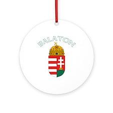 Balaton, Hungary Coat of Arms Ornament (Round)