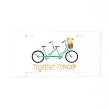Together Forever Aluminum License Plate