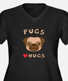 Cute Pugs Love Hugs, For dog lovers Plus Size T-Sh
