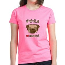 Cute Pugs Love Hugs, For dog lovers T-Shirt