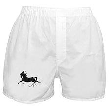 Black Leaping Pony Boxer Shorts
