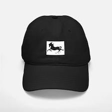 Black Leaping Pony Baseball Hat