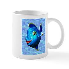 Cute Blue Fish Cartoon Mugs