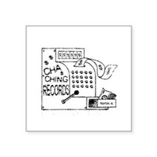 cha-ching logo Oval Sticker