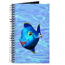 Cute Blue Fish Cartoon Journal