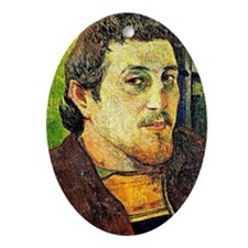 Gauguin - Self-Portrait at Lezaven Oval Ornament