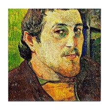Gauguin - Self-Portrait at Lezaven Tile Coaster