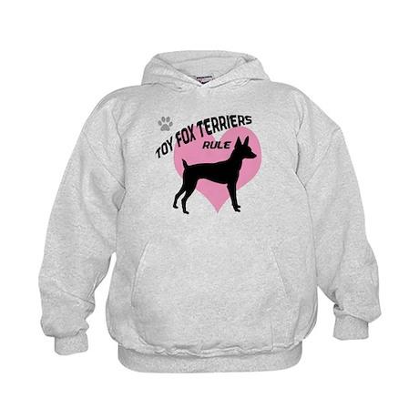 Toy Fox Terriers Rule Kids Hoodie