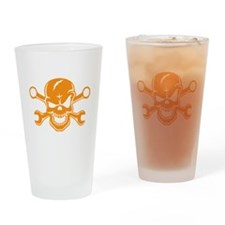 Skull & Wrenches Drinking Glass