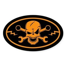 Skull & Wrenches Decal