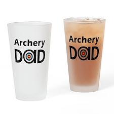 Archery Dad Drinking Glass