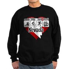 Nevada Swim Bike Run Drink Sweatshirt