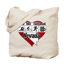 Nevada Swim Bike Run Drink Tote Bag