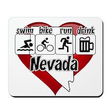 Nevada Swim Bike Run Drink Mousepad