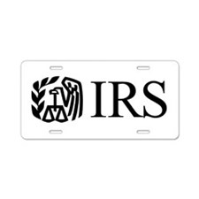 IRS (Logo) Aluminum License Plate
