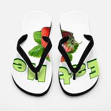 Eat Me-Strawberry Flip Flops