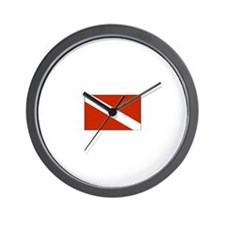 Dive Flag Wall Clock