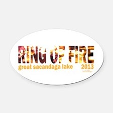 Oval Oval Car Magnet