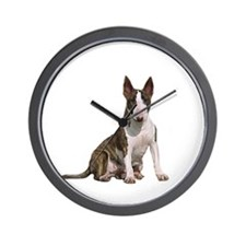 Bull Terrier (brindle) Wall Clock