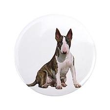 "Bull Terrier (brindle) 3.5"" Button"