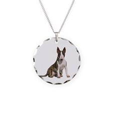 Bull Terrier (brindle) Necklace Circle Charm