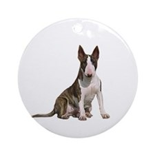 Bull Terrier (Brindle) Ornament (Round) Ornament (