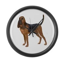 Bloodhound (stand) Large Wall Clock