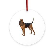 Bloodhound (stand) Ornament (Round)