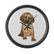 Bloodhound Pup Large Wall Clock