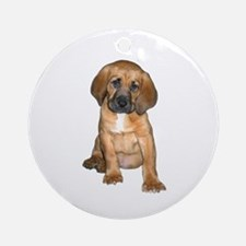 Bloodhound Pup Ornament (Round)